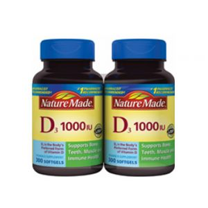 Nature Made Vitamin D 1000 IU 2X300 CT