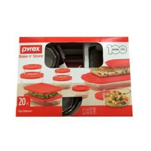 Pyrex Bakeware 20 PC Bake & Store Set with Lids