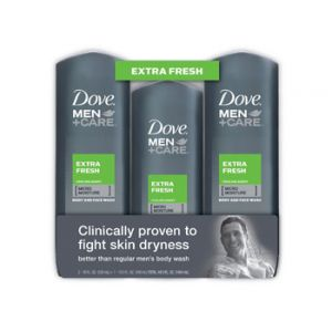 Dove Men + Care Body Extra Fresh Wash 2/18 oz + 13.5 oz
