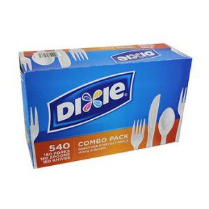 Dixie White Combo Utensils 540 Count