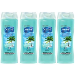 Suave Ocean Breeze Body Wash 18oz - 4 Pack