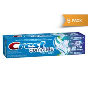 Crest Complete Deep Clean Whitening+ Paste 8oz - 5 Pack
