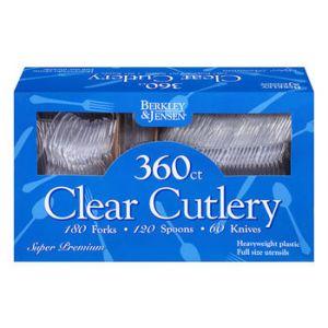 Berkley & Jensen Clear Cutlery Combo - 360 Count