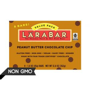 Larabar Peanut Butter Chocolate Chip Fruit & Nut Bars - 8 Count