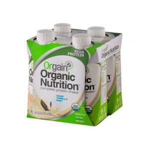 Orgain Organic Sweet Vanilla Bean Nutritional Shake - 4 Count (11 fl oz)