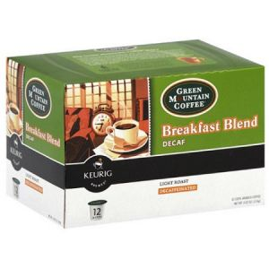 Green Mountain Decaffeinated Coffee, Breakfast Blend Keurig (K-Cups) - 80 Pack