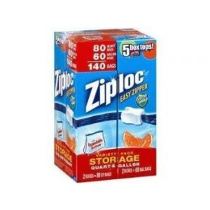 Ziploc Storage Variety Pack 204 Count