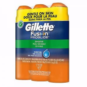 Gillette Fusion Hydragel Shave 8.4oz Cans - 3 Pack