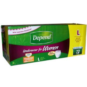 Depend Underwear For Women Large - 72 Pack