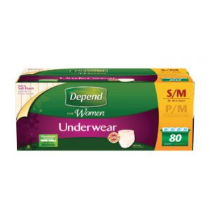 Depend Underwear For Women Small/Medium - 80 Pack