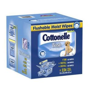 Cottonelle Flushable Wipes 224 ct