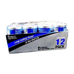Berkley & Jensen Alkaline Batteries D 12 PK