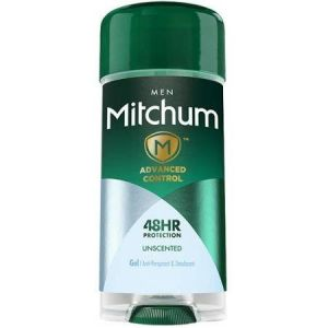 Mitchum Men Advanced 48 HR Oxygen Odor Technology Protection Unsented Clear Gel, 4 Pack
