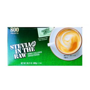 Stevia in the raw. Zero calorie sweetener.  28.21 OZ / 800 CT