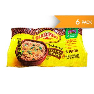 Old EL Paso. Traditional Refried Beans. 16 OZ / 6 PK