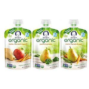 Gerber Organic Baby Food Fruit & veggie 3.5oz - 9 Pack