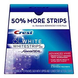 Crest 3D White Whitestrips Advanced Vivid - 21 Pack