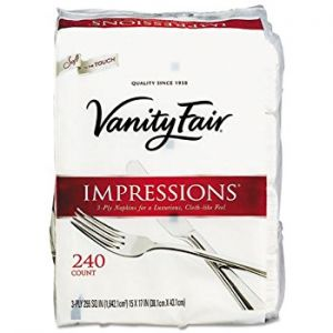 Vanity Fair Impressions Dinner Napkins 3-Ply - 240 Pack