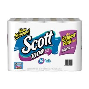 Scott Bath Tissue 36 Roll 1000 Sheets