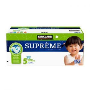 Kirkland Signature Supreme Diapers Size 5; Quantity: 162