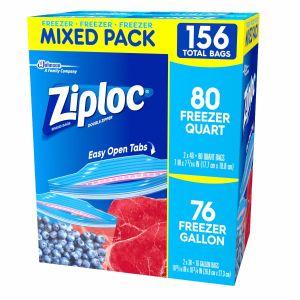 Ziploc Freezer 156 Pack - 80 Quart - 76 Gallon