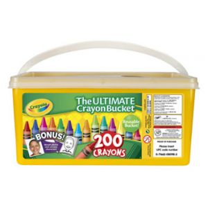 Crayola Crayon Bucket 200 ct