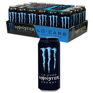 24 Pack - Monster Low Carb Energy Drink 16 oz