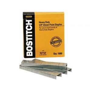 Stanley Bostitch Heavy-Duty Premium Staples , 1/4 - 1,000 Staples