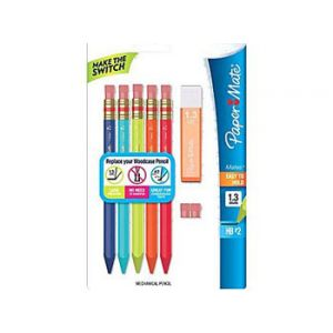 Paper Mate Mates Mechanical Pencil Starter Set, Assorted - 5 Pack