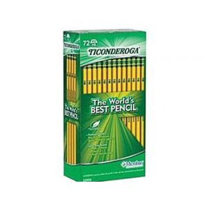 Dixon Ticonderoga #2 Soft Pencil, Yellow - 72 Pack