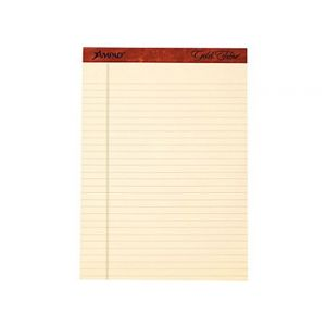 Ampad Gold Fibre, 8-1/2 x 11-3/4, Retro Notepads, Wide Ruled, 12-Pack