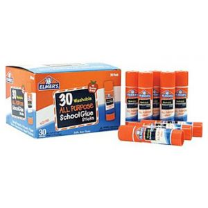 Elmer's Clear Glue Stick Class Pack, .24oz, 30 Pack