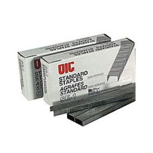 OIC Standard Chisel Point Staples, 1/4 Leg Length - 5,000 Staples