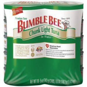 Bumble Bee Chunk Light Tuna In Water 5oz - 10 Pack