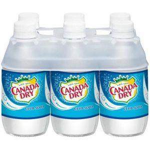 Canada Dry Club Soda 10oz Glass Bottle - 24 Pack