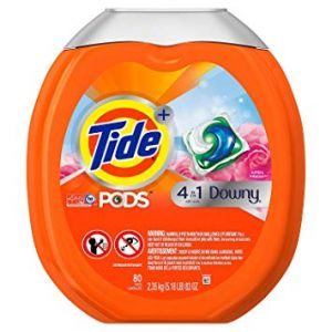 TIDE PODS PLUS DOWNY HE TURBO LAUNDRY DETERGENT PACS, APRIL FRESH, 80 CT