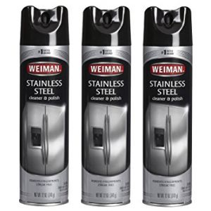 Weiman Stainless Steel Cleaner & Polish Aerosol 17 Oz - 3 Pack