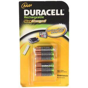 Duracell 6PK AAA Nimh Rechargable Battery