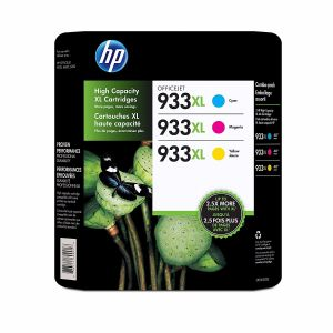 HP 933XL High Yield Cyan/Magenta/Yellow Original Ink Cartridges - 3 Pack