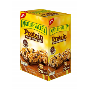 NATURE VALLEY PROTEIN CHEWY BAR PEANUT BUTTER DARK CHOCOLATE 26 CT