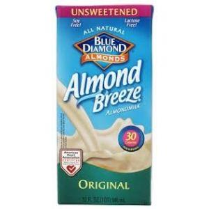 Blue Diamond Almond Breeze Milk Original Flavor. 32 OZ. / 12 CT