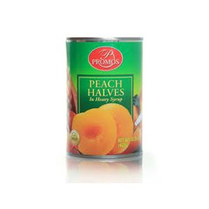 PROMOS PEACH HALVES IN HEAVY SYRUP 24/15.25 OZ