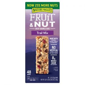 NATURE VALLEY FRUIT & NUT CHEWY GRANOLA BARS TRAIL MIX 48 CT / 1.2 OZ