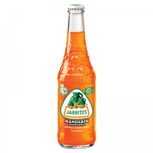 Jarritos Mandarin Soda 12oz glass bottles -  24 Pack
