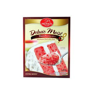 PROMOS DELUXE MOIST STRAWBERRY CAKE MIX 12/18.25 OZ