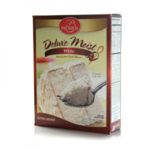 PROMOS DELUXE MOIST WHITE CAKE MIX 12/18.25 OZ