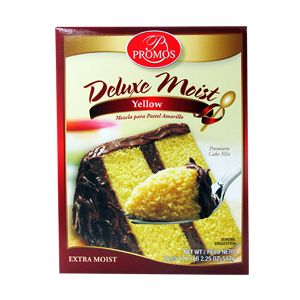 PROMOS DELUXE MOIST YELLOW CAKE MIX 12/18.25 OZ