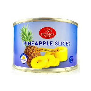 PROMOS SLICED PINEAPPLE IN JUICE. 24/8OZ.