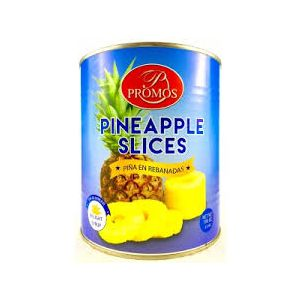 PROMOS SLICED PINEAPPLE IN JUICE. 6/#10