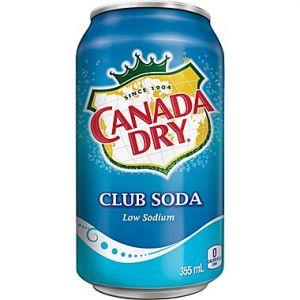 Canada Dry Club Soda 12oz  - 24 Pack